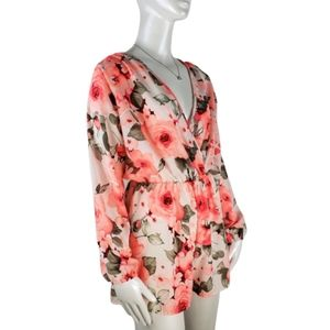 A3 Design Floral Romper long sleeve medium